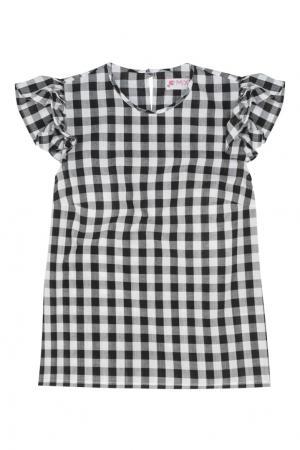 Хлопковая блузка Mixer. Цвет: черно-белый