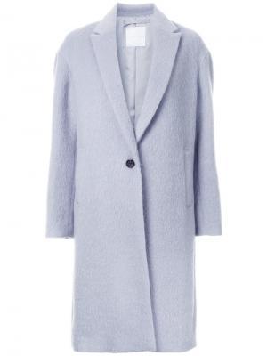 Классическое пальто Cityshop. Цвет: синий