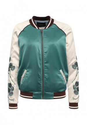 Куртка утепленная Maison Scotch. Цвет: зеленый
