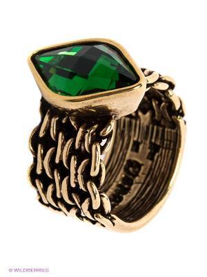 Кольцо Jenavi. Цвет: бронзовый, зеленый