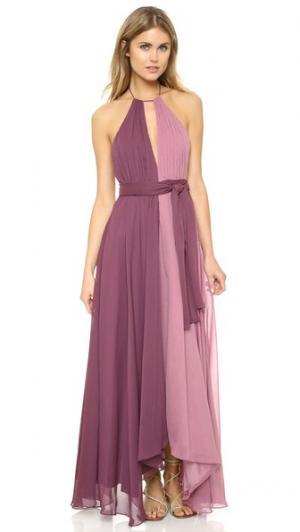 Платье из жатого шифона Jill Stuart. Цвет: розовато-лиловый/чертополох