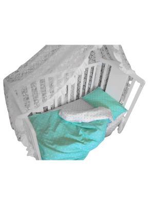 Детское постельное белье БИОСОН. Цвет: бирюзовый
