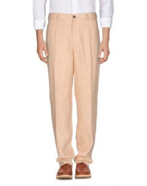Повседневные брюки UMIT BENAN. Цвет: песочный