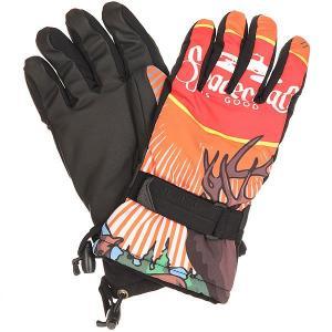 Перчатки сноубордические  Handicrafter Glove Spacecraft Pow. Цвет: черный,оранжевый,красный