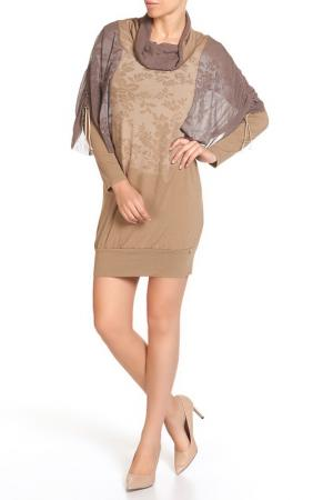 Платье LEIDIRO. Цвет: коричневый