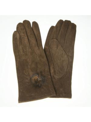 Перчатки Nice Ton. Цвет: коричневый