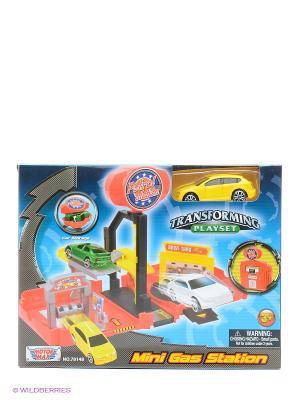 Набор Мини заправочная станция и одна машина Motormax. Цвет: желтый
