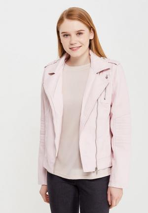 Куртка кожаная Modis. Цвет: розовый