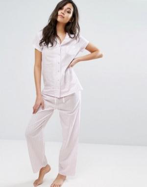Boux Avenue Пижамный комплект в стиле 50-х Candy. Цвет: розовый