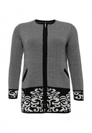 Кардиган Milana Style. Цвет: черно-белый