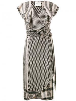 Платье с рюшами keffiyeh Cecilie Copenhagen. Цвет: телесный