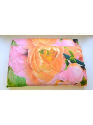 Покрывало Миледи 140х210 Традиция. Цвет: салатовый, коралловый, персиковый, темно-бежевый