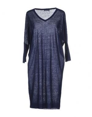 Короткое платье PUROTATTO. Цвет: темно-синий