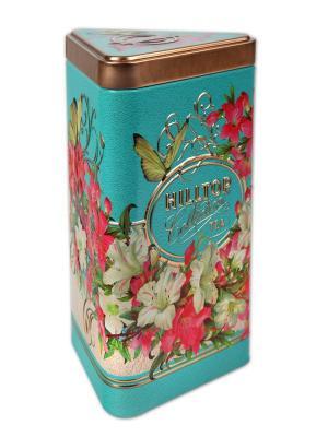 Чай Hilltop треуг.чайница Букет лилий Жасминовый 80 гр.. Цвет: зеленый