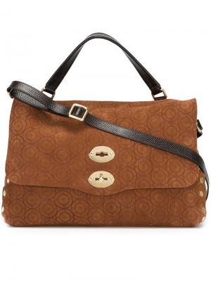 Большая сумка-сэтчел Zanellato. Цвет: коричневый