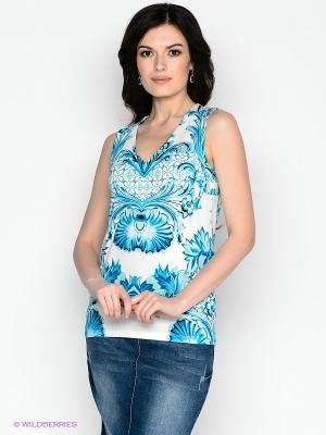 Майка Vis-a-vis. Цвет: голубой, белый