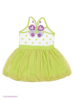 Платье FLOBABY. Цвет: зеленый