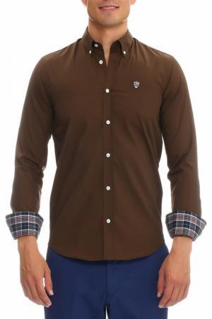 Рубашка Galvanni. Цвет: brown