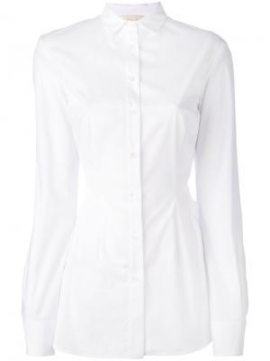 Рубашка с баской Antonio Berardi. Цвет: белый
