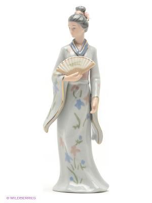 Статуэтка Леди Катсура Pavone. Цвет: светло-голубой, светло-бежевый