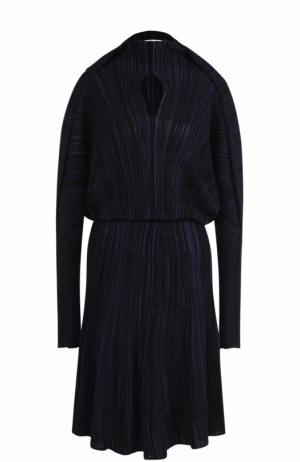Вязаное приталенное платье с длинным рукавом Sonia Rykiel. Цвет: темно-синий