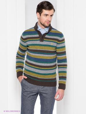 Свитер Henry Cotton's. Цвет: коричневый, серый меланж, синий, зеленый