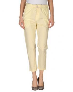 Повседневные брюки GOLD CASE. Цвет: светло-желтый