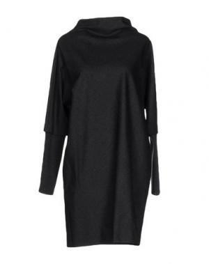 Короткое платье ANTONELLI. Цвет: стальной серый