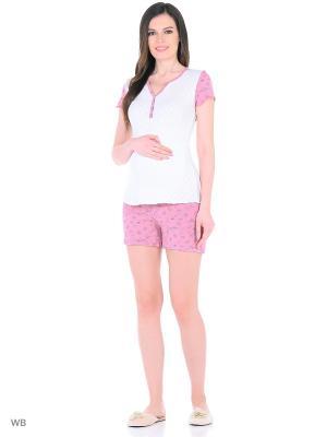 Комплект для беременных и кормящих FEST. Цвет: белый, розовый, серый