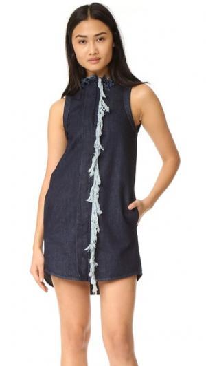 Цельнокроеное платье Run Free Vale. Цвет: голубой