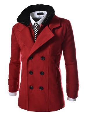 Пальто VipDressCode. Цвет: красный