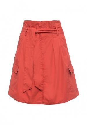 Юбка United Colors of Benetton. Цвет: оранжевый