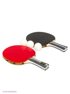 Набор для настольного тенниса Start Up. Цвет: черный
