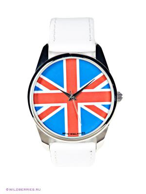 Часы Mitya Veselkov. Цвет: белый, синий, красный