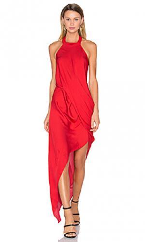 Платье poppy One Fell Swoop. Цвет: красный
