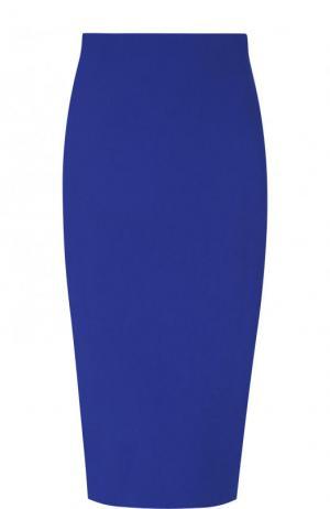 Однотонная юбка-карандаш Victoria Beckham. Цвет: синий