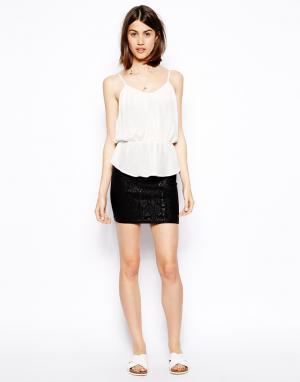 Мини-юбка с покрытием S.Y.L.K. Цвет: черный