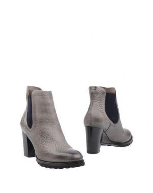 Полусапоги и высокие ботинки CALPIERRE. Цвет: серый