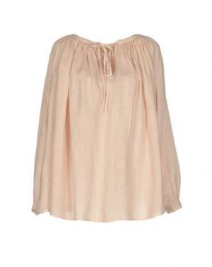 Блузка 120% LINO. Цвет: светло-розовый