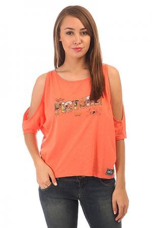 Топ женский  Fancy Coral Picture Organic. Цвет: оранжевый