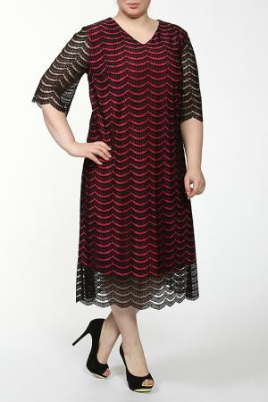 Платье Lia Mara. Цвет: черный, бордовый
