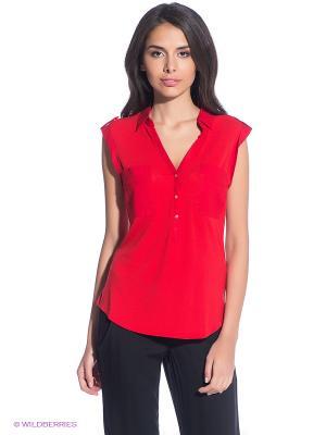 Блузка Oodji. Цвет: красный