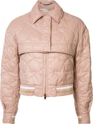 Укороченная куртка-бомбер Stella McCartney. Цвет: розовый и фиолетовый