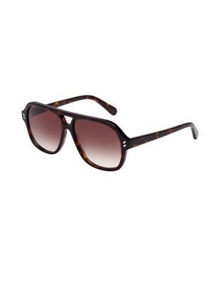 Солнцезащитные очки Stella McCartney. Цвет: коричневый
