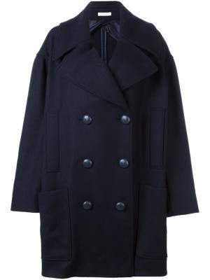 Объемное двубортное пальто JW Anderson. Цвет: синий