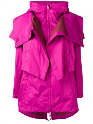 Парка с капюшоном Sàpopa. Цвет: розовый и фиолетовый