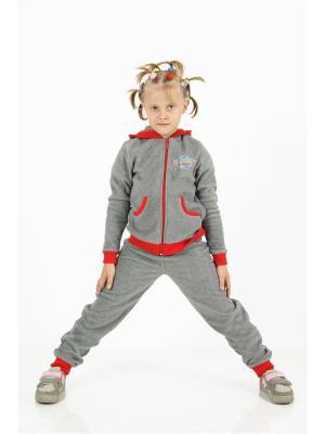 Спортивный костюм CROSS sport. Цвет: красный