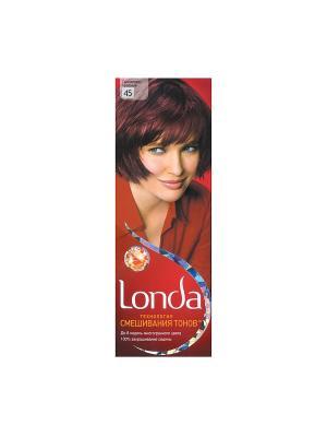Крем-краска для волос стойкая 45 Гранато-красный LONDA. Цвет: красный