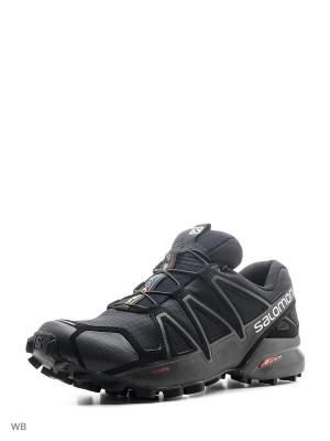 Ботинки SHOES SPEEDCROSS 4 SALOMON. Цвет: черный