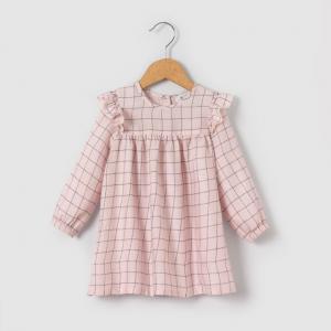 Платье в клетку 1 мес-3 лет R essentiel. Цвет: розовый в клетку